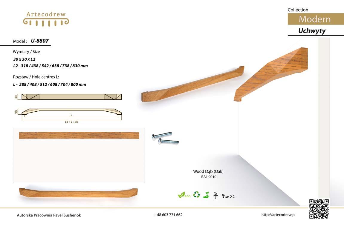 Katalog Uchwyty U8807 Modern