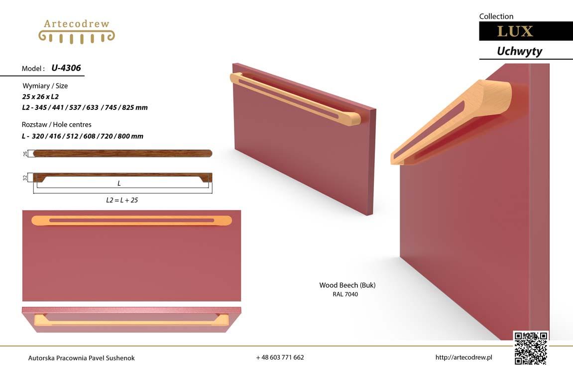 Katalog Uchwyty U4306 Lux