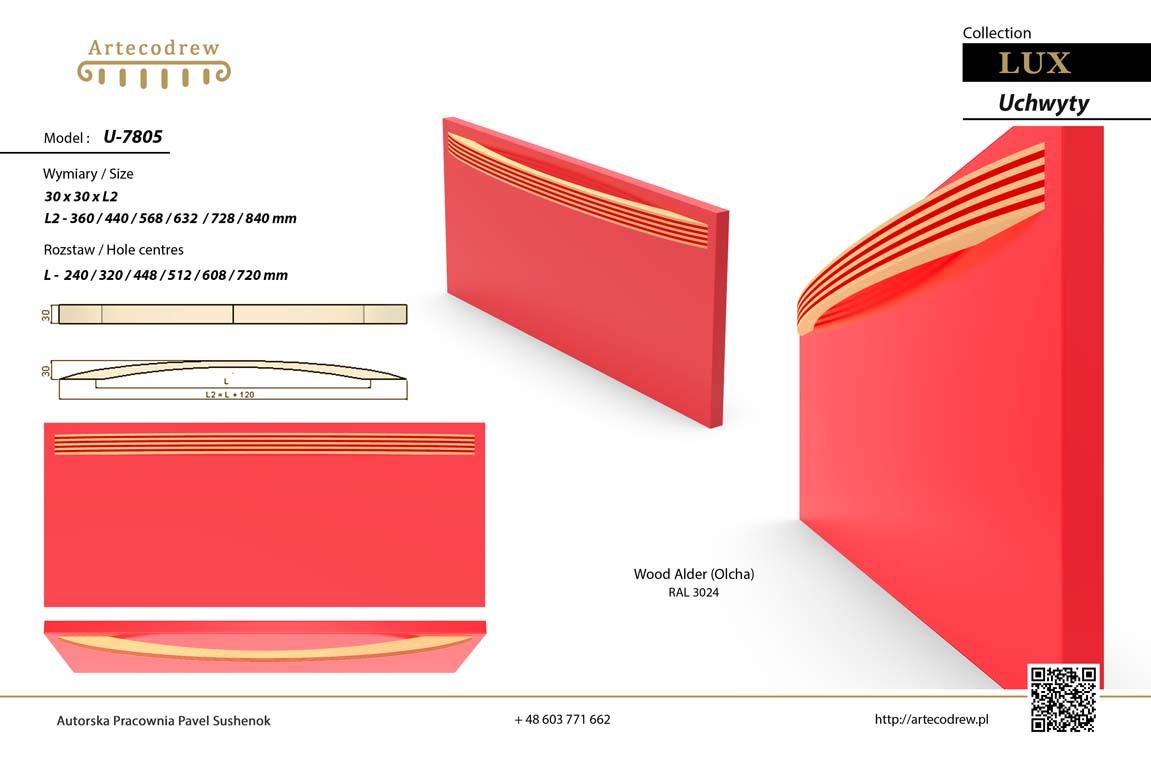 Katalog Uchwyty U7805 Lux