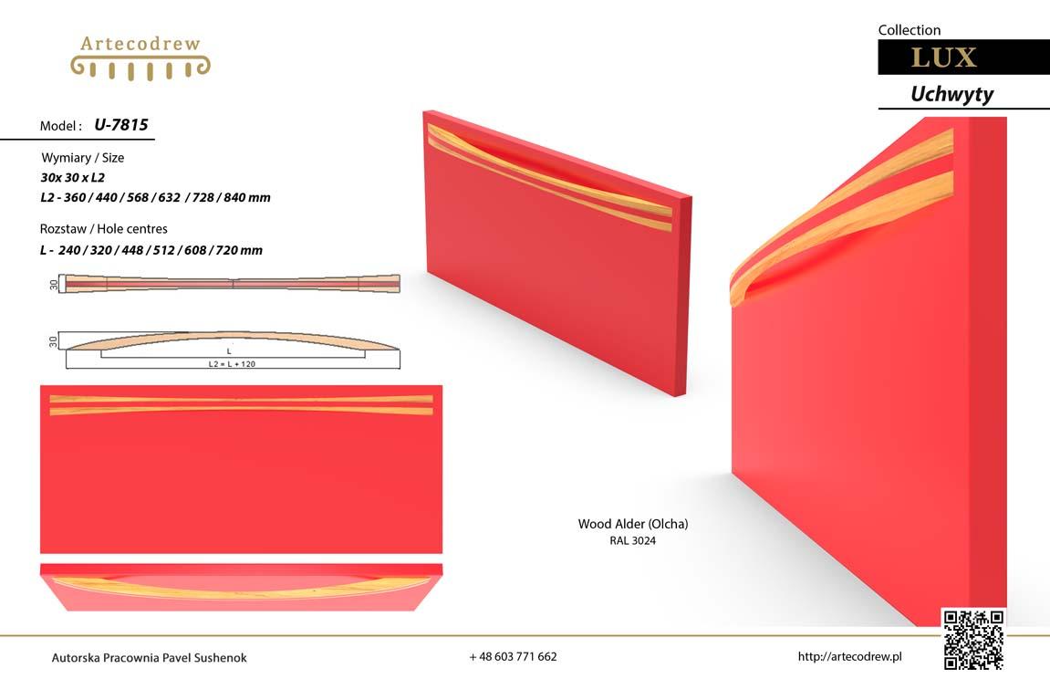 Katalog Uchwyty U7815 Lux