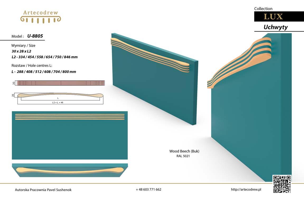 Katalog Uchwyty U8805 Lux