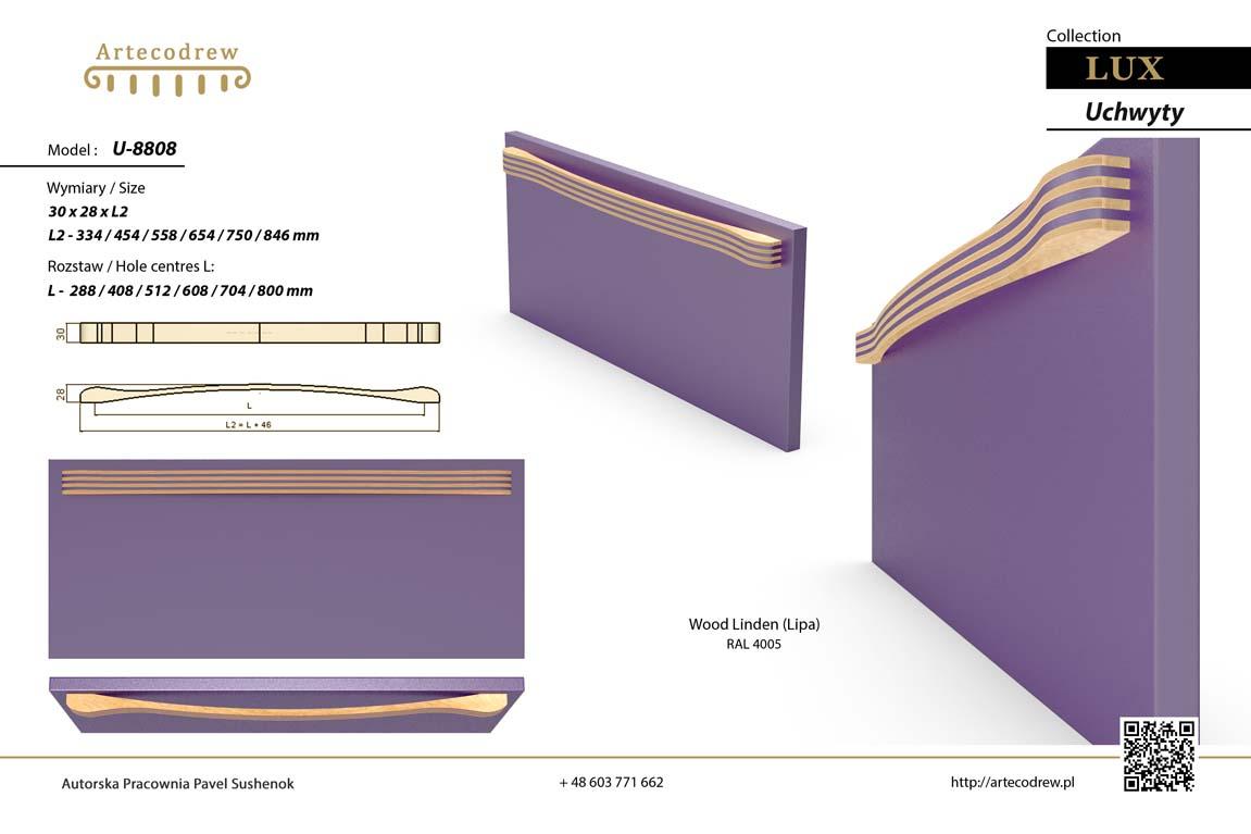 Katalog Uchwyty U8808 Lux